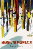 Mammoth Mountain, California - Colorful Skis Posters by  Lantern Press