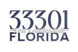 Fort Lauderdale, Florida - 33301 Zip Code (Blue) Posters by  Lantern Press
