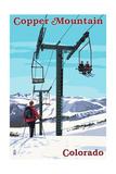 Copper Mountain, Colorado - Ski Lift Day Scene Poster by  Lantern Press