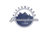 Pittsburgh, Pennsylvania - Skyline Seal (Blue) Prints by  Lantern Press