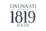 Cincinnati, Ohio - Established Date (Blue) Prints by  Lantern Press