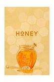 Honey Jar - Letterpress Posters by  Lantern Press