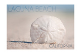 Laguna Beach, California - Sand Dollar and Beach Prints by  Lantern Press