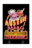 Austin, Texas - Neon BBQ Sign Posters by  Lantern Press