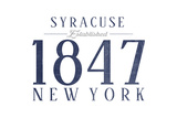 Syracuse, New York - Established Date (Blue) Posters by  Lantern Press