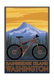 Bainbridge Island, Washington - Mountain Bike Scene Posters by  Lantern Press