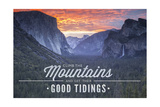 Yosemite National Park, California - Climb the Mountains John Muir Quote Print by  Lantern Press