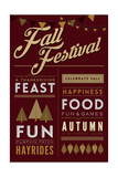 Fall Festival - Block Typography Posters by  Lantern Press
