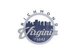 Richmond, Virginia - Skyline Seal (Blue) Art by  Lantern Press