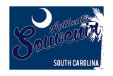 Visited South Carolina - Authentic Souvenir Art by  Lantern Press