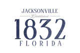 Jacksonville, Florida - Established Date (Blue) Prints by  Lantern Press