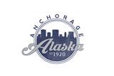 Anchorage, Alaska - Skyline Seal (Blue) Posters by  Lantern Press