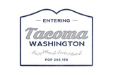 Tacoma, Washington - Now Entering (Blue) Posters by  Lantern Press