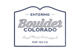 Boulder, Colorado - Now Entering (Blue) Prints by  Lantern Press