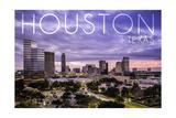 Houston, Texas - Skyline at Dusk Posters by  Lantern Press
