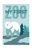 My First Zoo - Polar Bear - Blue Prints by  Lantern Press