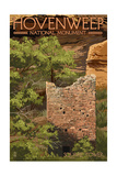 Hovenweep National Monument, Colorado - Square Tower Poster by  Lantern Press