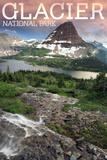 Glacier National Park, Montana - Hidden Lake and Bearhat Mountain Sunrise Posters by  Lantern Press