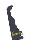 Delaware - Home State - Gray on White Prints by  Lantern Press