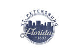 St. Petersburg, Florida - Skyline Seal (Blue) Prints by  Lantern Press