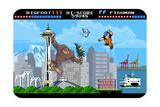 Seattle, Washington - 8 Bit Posters by  Lantern Press