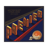 Premier Brand - Whittier, California - Citrus Crate Label Posters by  Lantern Press