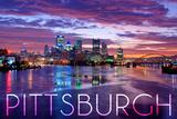 Pittsburgh, Pennsylvania - City Lights at Night Prints by  Lantern Press