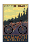 Mammoth Mountain, California - Mountain Bike Scene - Ride the Trails Prints by  Lantern Press