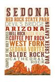 Sedona, Arizona - Typography (Version 2) Prints by  Lantern Press