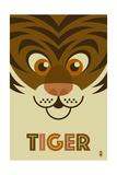 Zoo Faces - Tiger Prints by  Lantern Press