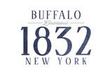 Buffalo, New York - Established Date (Blue) Prints by  Lantern Press