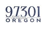 Salem, Oregon - 97301 Zip Code (Blue) Art by  Lantern Press