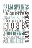 Palm Springs, California - Typography Prints by  Lantern Press