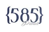 Buffalo, New York - 585 Area Code (Blue) Art by  Lantern Press