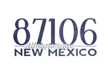 Albuquerque, New Mexico - 87106 Zip Code (Blue) Posters by  Lantern Press