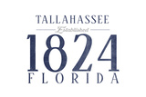 Tallahassee, Florida - Established Date (Blue) Posters by  Lantern Press