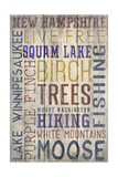 New Hampshire - Barnwood Typography Posters by  Lantern Press