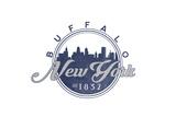 Buffalo, New York - Skyline Seal (Blue) Print by  Lantern Press