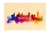 Buffalo, New York - Skyline Abstract Print by  Lantern Press