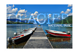 Glacier National Park, Montana - Lake McDonald Dock Posters by  Lantern Press