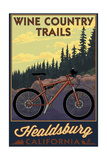 Healdsburg, California - Wine Country Trails Prints by  Lantern Press