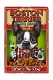 Boston Terrier - Retro Baked Beans Ad Prints by  Lantern Press