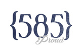 Rochester, New York - 585 Area Code (Blue) Posters by  Lantern Press