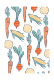 Vegetable Pattern - Letterpress Prints by  Lantern Press