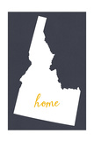 Idaho - Home State- White on Gray Posters by  Lantern Press