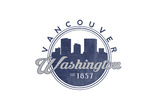 Vancouver, Washington - Skyline Seal (Blue) Posters by  Lantern Press