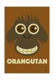 Zoo Faces - Orangutan Plakater af Lantern Press