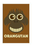 Zoo Faces - Orangutan Prints by  Lantern Press
