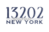 Syracuse, New York - 13202 Zip Code (Blue) Art by  Lantern Press