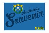 Visited Nevada - Authentic Souvenir Prints by  Lantern Press